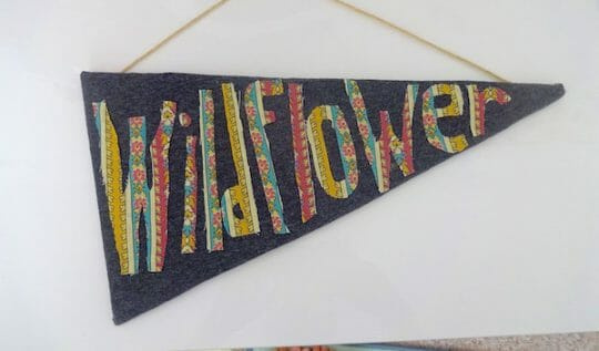 How to make a personalized pennant flag out of cardboard and fabric!