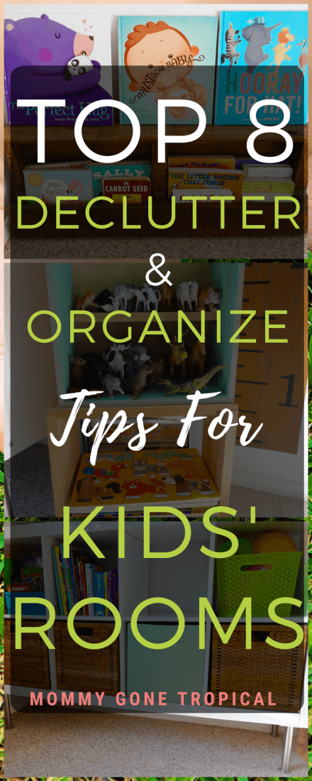 Top 8 declutter & organize tips for kids' rooms