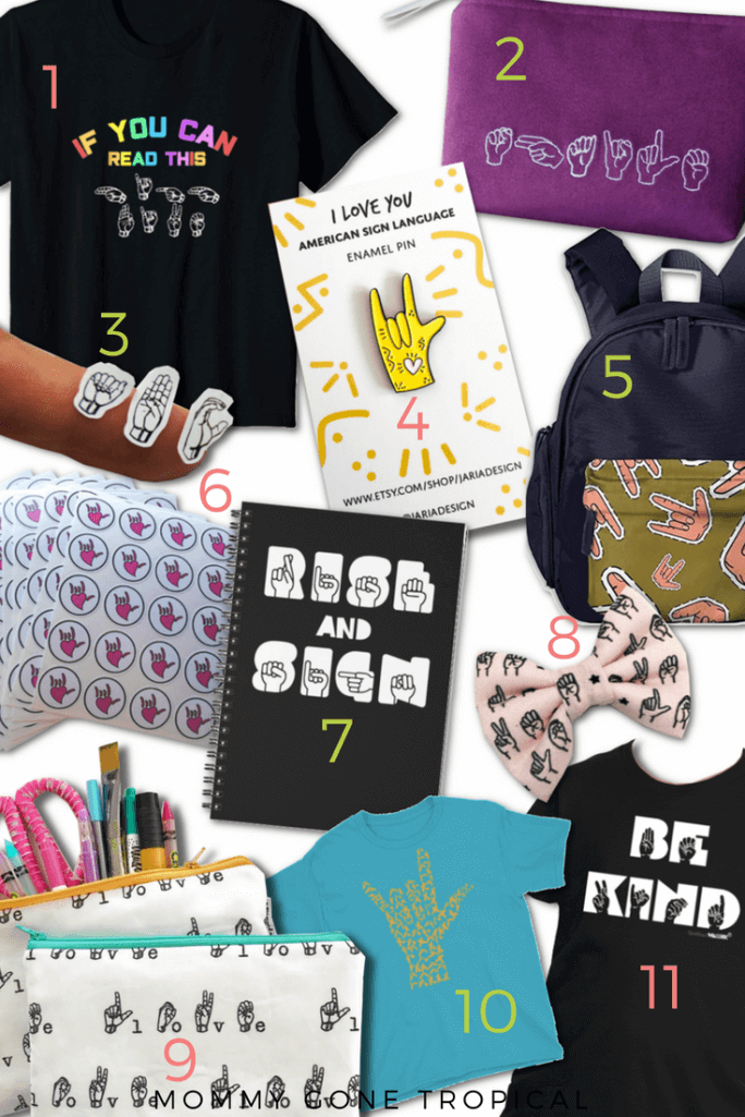 Back To School ASL (American sign language) items for your kids to get ready for school!