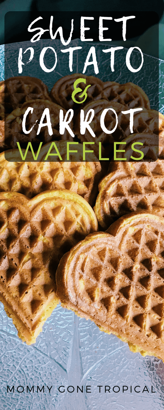 Sweet Potato Carrot Waffles recipe