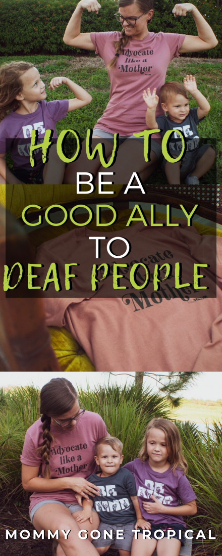 Help to reframe the Deaf community and follow d/Deaf people's lead to create solutions by being an ally to Deaf people. What is the difference between an advocate & an ally? What can you do as an ally to d/Deaf people?
